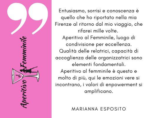 Marianna Esposito recensione Aperitivo al Femminile